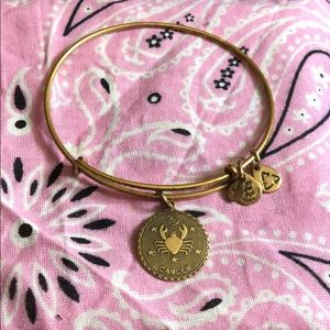 Gold Cancer Zodiac Bangle